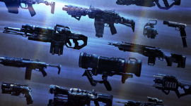 Oh gee! There sure are a lot of weapons here!  But I want one that has a bacon skin.